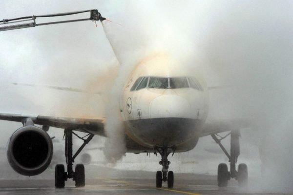 Avião congelado