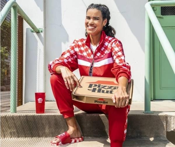 Peças da coleção Pizza Hut Tastewear