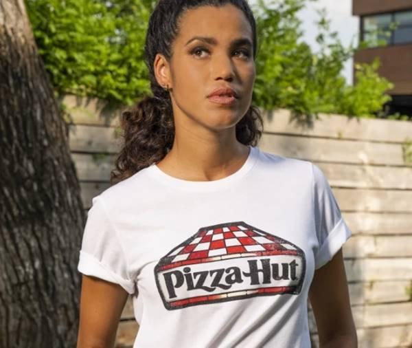 Camiseta da coleção Pizza Hut Tastewear