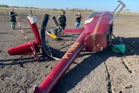 Helicóptero cai com 300 kg de cocaína a bordo