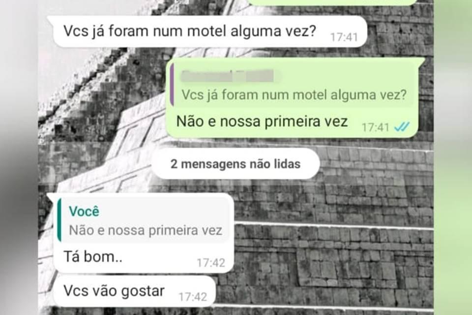 Mensagens em que Policial Militar de Goiás tenta seduzir garoto de 12 anos e o convida para ir ao motel
