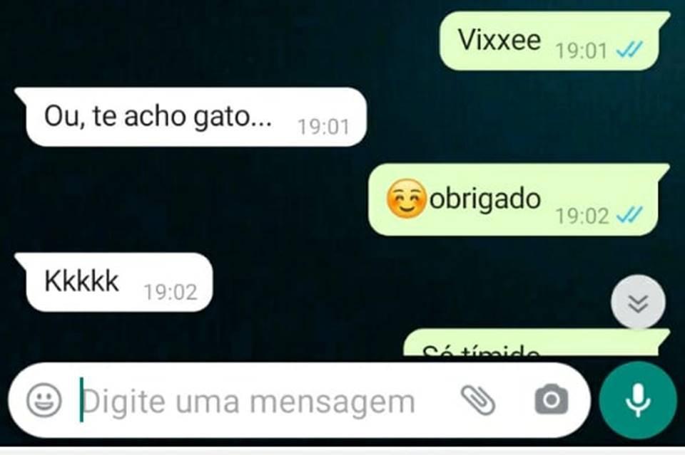 Mensagens em que Policial Militar de Goiás tenta seduzir garoto de 12 anos e o convida para ir ao mote