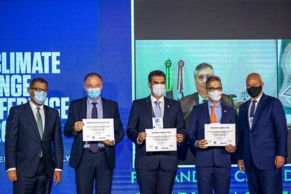 Evento campanha Race to Zero (Corrida para o Zero), que busca zerar as emissões de gases do efeito estufa