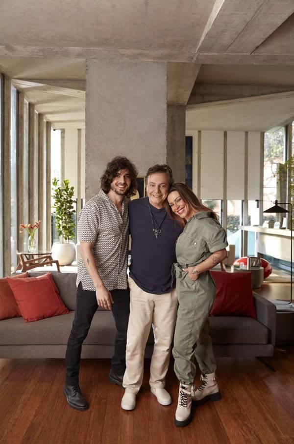 Fábio Jr., Cleo e Fiuk em campanha de Dia dos Pais 2021 da Riachuelo