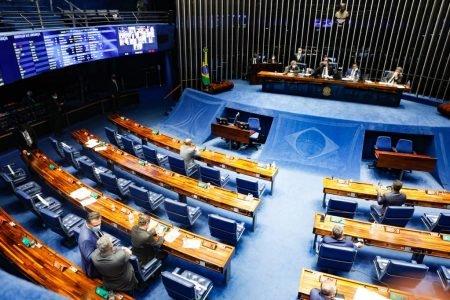 Senado Federal no final da votação da PL 2.108:2021, que revoga Lei de Segurança Nacional 4