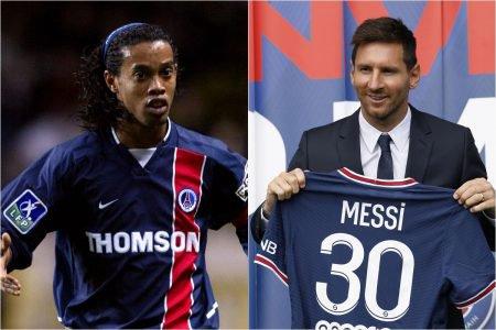 Ronaldinho Gaúcho e Messi PSG