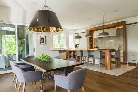 sala de jantar com decór contemporâneo