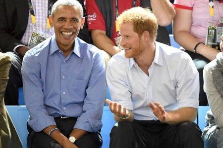 Príncipe Harry e Barack Obama
