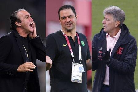 Cuca, Jardine e Renato Gaúcho