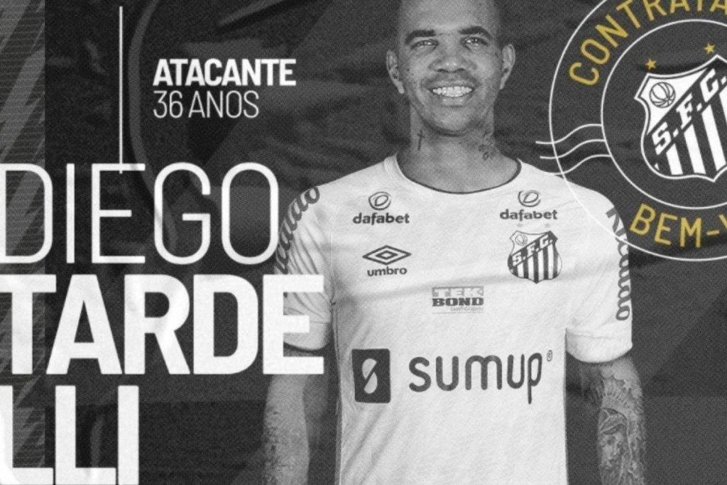 Oficial: Santos anuncia a contratação de Diego Tardelli