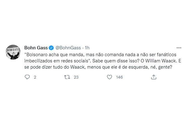 Bohn Gass no Twitter Waack