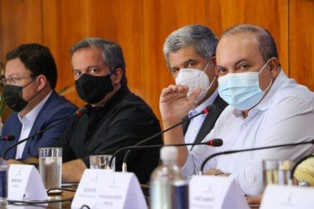Ibaneis, Clemente e o novo secretário de Saúde