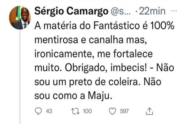 Xingamento de Sérgio Camargo, presidente da Fundação Palmares