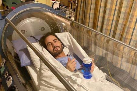 Marc Jacobs câmara oxigênio oxigenoterapia hiperbárica