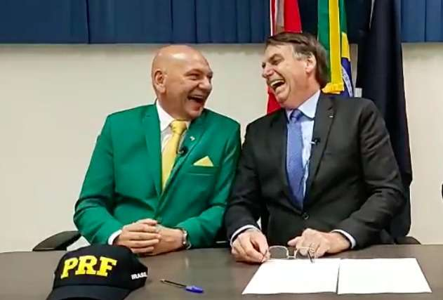 Jair Bolsonaro e Luciano Hang