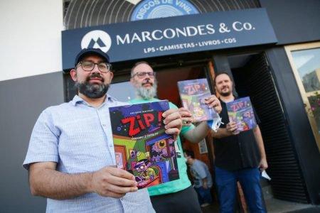 Lançamento do livro ZIP na Loja de discos Marcondes & Co