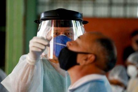 Goiânia (GO) 13/05/2021 Prefeitura de Goiânia promove testagem de CoViD-19 voltada a assintomáticos . Os testes ocorreram mediante agendamento prévio