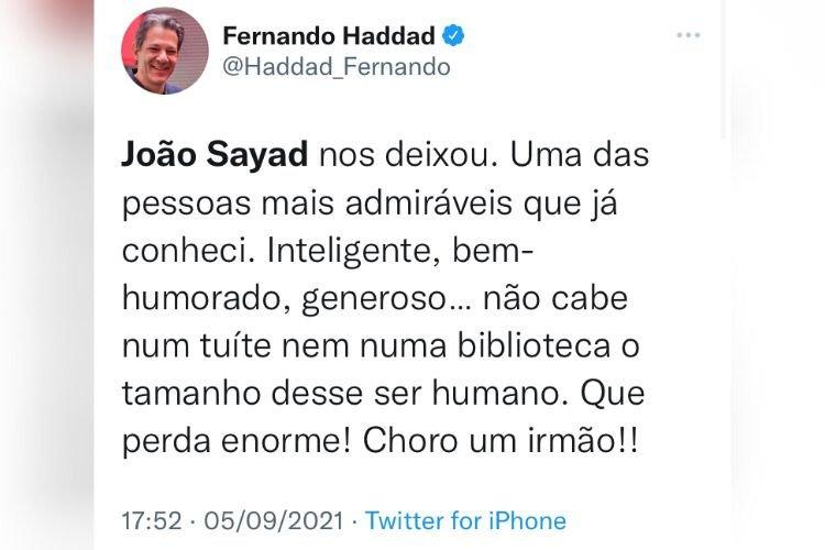 Economista Joao Sayad