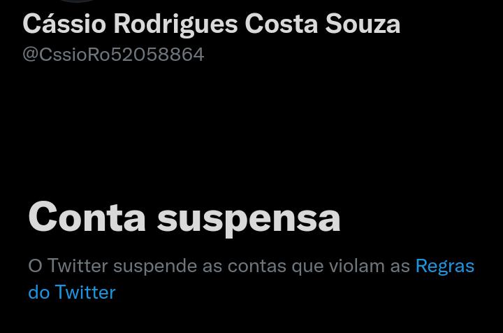 """A conta do PM foi suspensa por """"violar regras"""" do TwitterTwitter/Reprodução"""
