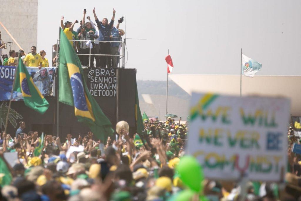 7 de setembro protesto brasil brasilia bolsonaro stf helicoptero esplanada DF 25