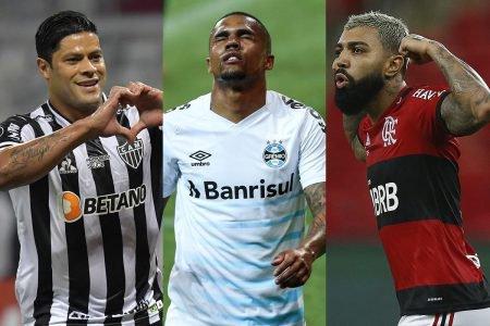 Hulk, Douglas Costa e Gabigol