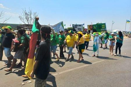 Manifestações pró-Bolsonaro na Esplanada