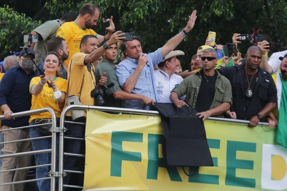 Ato 7 de Setembro com Jair Bolsonaro na Avenida Paulista em SP