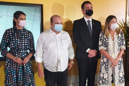 Mayara Noronha, Ibaneis, Rodrigo Pacheco e Anna Christina Kubitschek