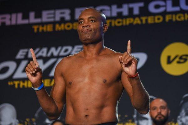 Anderson Silva na pesagem