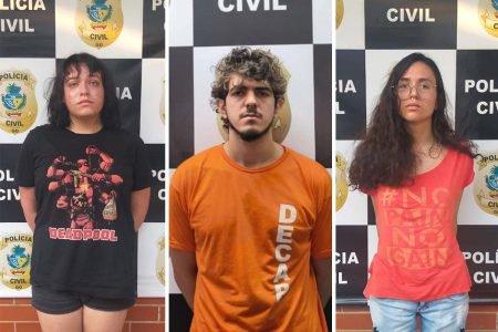 suspeitos pela morte de ariane bárbara laureano, em goiânia