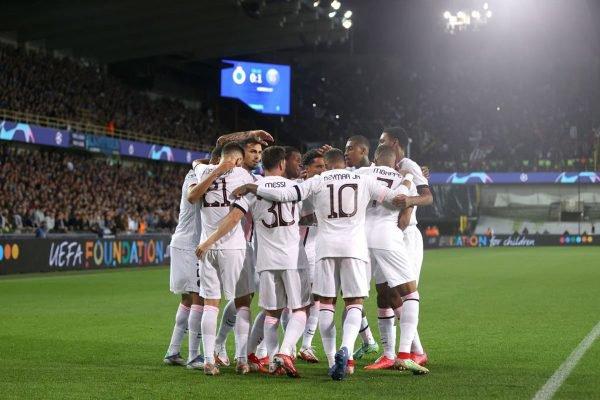 PSG empatou com o Brugge