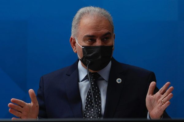 Ministro Marcelo Queiroga fala suspensao da vacina da Pfizer para adolescentes em coletiva de imprensa no ministério da saúde 4