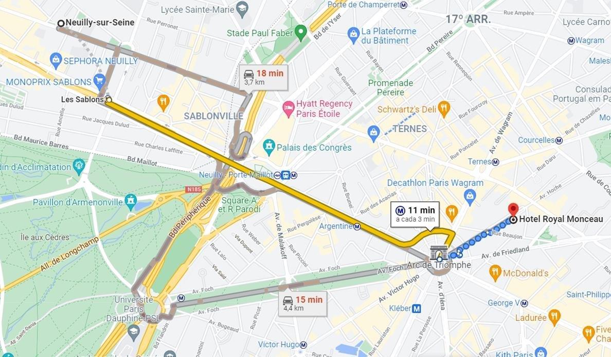 mapa paris Messi