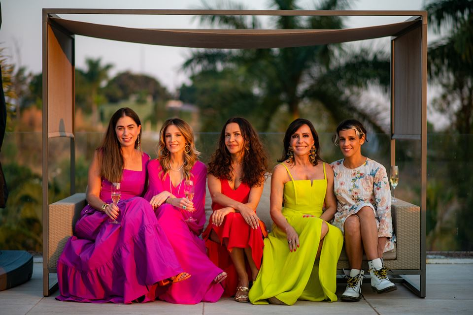 Caroline Collor, Mayra Perin, Claudia Meireles, Cleucy Oliveira e Ilca Maria Estevão