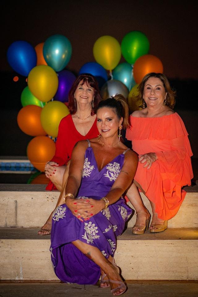 Denise Barbosa, Claudia Salomão e Lúcia Fittipaldi