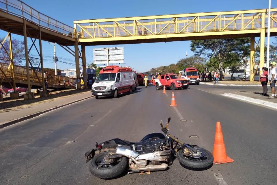 Atropelamento na Avenida Helio Prates