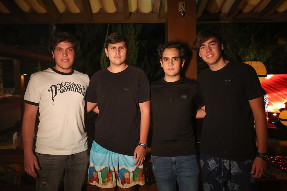 Thiago Morum, Felipe Morum, Ciro Tiecher e Luiz Guilherme Lim