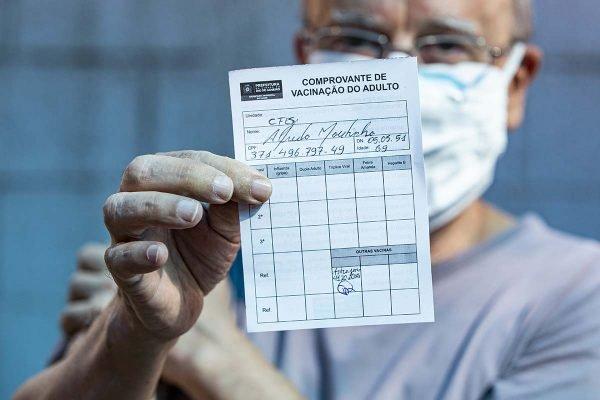 Comprovante de vacinação no Rio de Janeiro