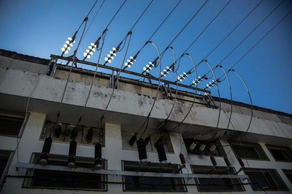 Transmissor de energia elétrica em usina hidrelétrica