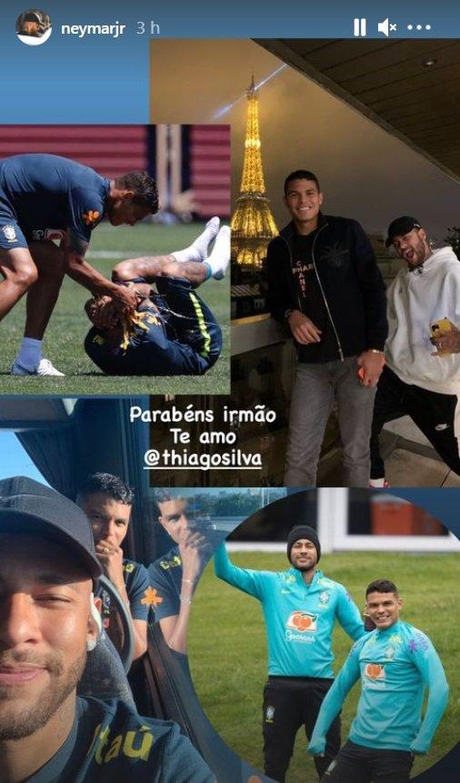 Neymar e Thiago Silva