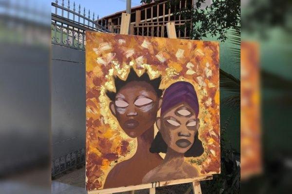 Pintura em quadro