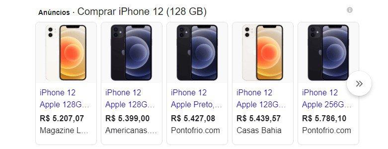 anúncios iphone 12