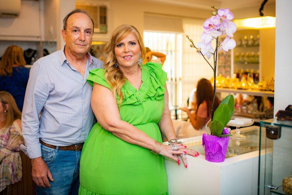 O casal José Alberto Faria e Simone Novaes