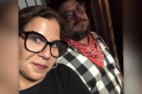 A atriz Carla Daniel com o namorado, o empresário e músico Sérgio José Coutinho Stamile