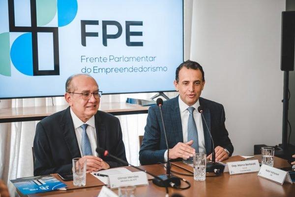 Ministro do STF Gilmar Mendes em reunião com a Frente Parlamentar do Empreendedorismo