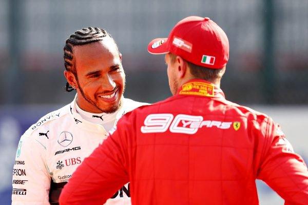 Lewis Hamilton Ferrari Vettel