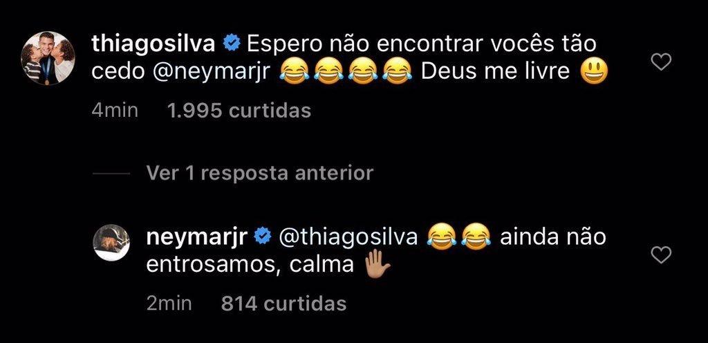 Thiago Silva comentário Neymar