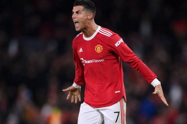 Cristiano Ronaldo comemorando gol pelo United