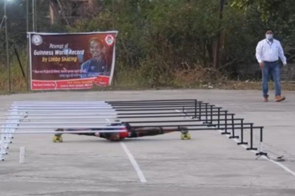 Patinadora indiana bate recorde