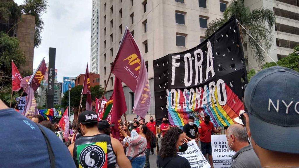 protesto contra o governo bolsonaro na avenida paulista em são paulo 1